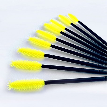 YELLOW SILICON BRUSHES FOR EYELASHES